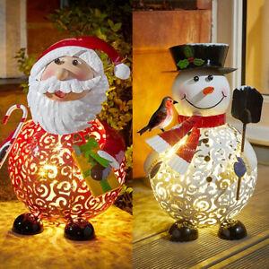 LED Light Up Christmas Filigree Indoor/Outdoor Decoration Frosty Snowman/Santa