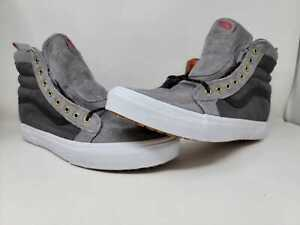 Vans Sk8-Hi MTE Frost Gray Ballistic Wht High Top Skate Sneakers Mens Sz 12 NWOB