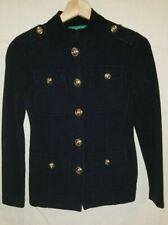 Lauren Ralph Lauren Women's Black Military Style Sweater Jacket Size P/P
