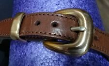 New Vintage Brighton Young Men's Brown Leather/Fabric Belt Size 30