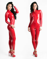 0.25MM LATEX RUBBER CATSUIT EASY-ON (Chlorianted, Extra Thin) RED OR BLACK