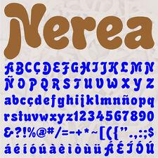 ALFABETO NEREA LETRAS A ELEGIR 12cm MADERA DM 4mm MDF WOODEN LETTERS DECOUPAGE