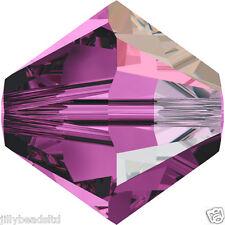 SWAROVSKI 5328 XILION Bicone Beads 4mm: Amethyst AB (50 Perline)