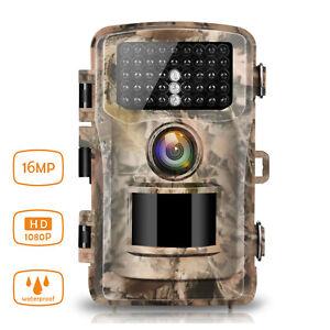 Wildkamera 16MP 1080P Jagdkamera Überwachungskamera PIR Nachtsicht Wasserdicht