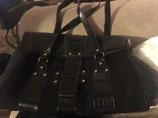 Elizabeth Arden Black Carry-On Bag Faux Alligator Great Shape!