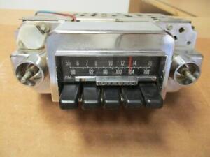 68 69 Ford Fairlane Torino AM FM Radio Fomoco c9oa-19a241 Beautiful Chrome!