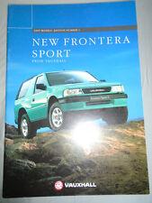 Vauxhall Frontera Sport range brochure 1995 Ed 1