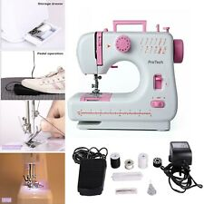 Electric Multi-function Domestic Sewing Machine Portable LED 12 Stitches UK