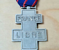 SCARCE WW2 FREE FRENCH VOLUNTEER SERVICE CROSS MEDAL FRANCE LIBRE ANTI NAZI