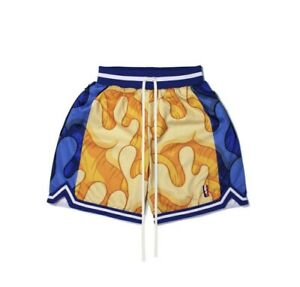 Aaron Kai x Collect And Select Swingman Shorts SMALL HOME V2 Warriors NEW