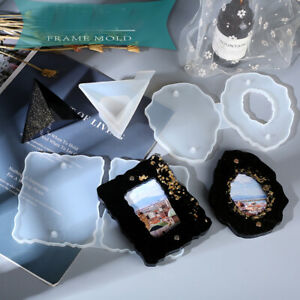 Silicone Poster Picture Frame Mold Resin Casting Photo Dispaly Stand Epoxy Mould