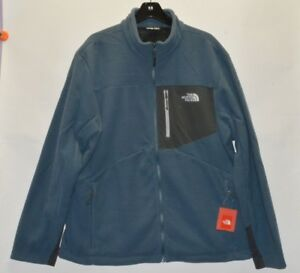 North Face Men's Chimborazo Fleece Jacket Full Zip Conquer Blue  XL XXL New