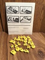 25 PERFECTION Vintage Original 1975 Game Pieces Yellow Complete Set With Manual
