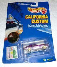 HOT WHEELS CALIFORNIA CUSTOM PURPLE 63 VETTE BRAND NEW