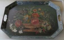 Antique Tole Painted Decorative Tray - BEAUTIFUL TRAY - VERY OLD - MULTI-FLORAL
