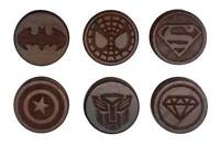Carved Cherry Wood Superhero Saddle ear plug / Stretcher Tunnel - Choose Design