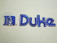 "Duke University Blue Devil's Lot of 2 Patches- 1 D Mascot & 1 ""Duke"" --#9"