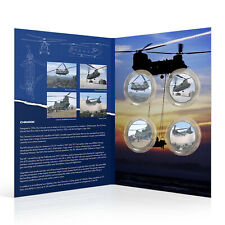 More details for raf memorabilia collection silver coin medal - chinook - complete bundle pack