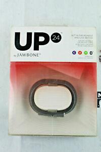 Jawbone UP24 Medium Wristband Black MotionX Fitness Bracelet Sleep tracker  New