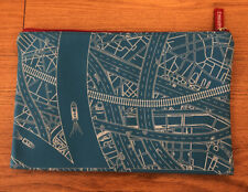 Emirates Airlines Amenity Kit Blue Zipper Bag Pouch Toiletry Plane Flight Travel