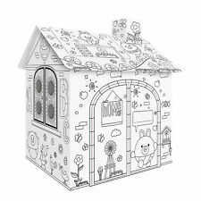 More details for diy large cardboard coloring  crafts  house project assemble t3y8
