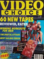 Video Choice Catalog Magazine July 1988 No Label Very Fine