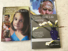 Painting Portraits and Still Lifes Book Lot of 3 books