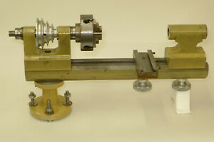 Watchmakers 8mm collet size LATHE 4 JAW INDEPENDENT CHUCK & TAILSTOCK WW BED