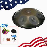 Professional 9 Notes Hand Pan Drum Handpan Carbon Steel 432Hz + Chair & Bag