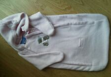 Girl Infant Snowsuit Carter Pink Fleece Double Zipper Car seat Teddy bear EUC
