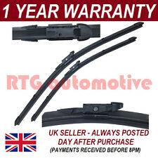 """FOR BMW 5 SERIES E60 2003-10 DIRECT FIT FRONT AERO WIPER BLADES PAIR 24"""" + 23"""""""