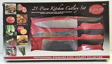 21 Piece Kitchen Cutlery Set Professional Stainless Chef Deluxe Miracle Edge