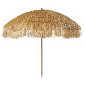 Mainstays 6 Ft Thatch Tiki Beach Umbrella (72in x79 / 50+ UPF) (NWT)