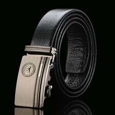 Mercedes Genuine Leather Belt Men Accessories Stylish Automatic Buckle Fashion