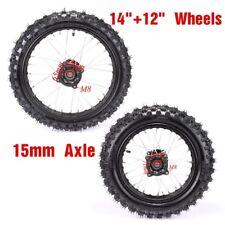 "Front 60/100- 14""  Wheel Rim Tire +Rear 80/100-12 for Honda Motorcycle Dirt Bike"