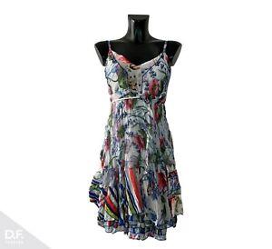 SENSATIONS N5 Made in France Damen Sommerkleid Minikleid Trägerkleid Gr. 34-40