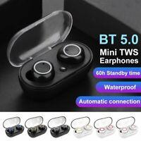 Waterproof Wireless Bluetooth 5.0 Earbuds HiFi Stereo Headphones w/ Changing Box