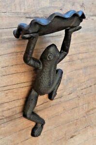 Cast iron Frog Toad bird feeder Wall mounted Garden ornament Display UK seller