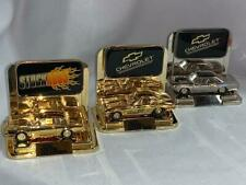 Racing Champions Diecast Cars Stand Lot 3-24K Gold P Silver Chevy Corvette-Buick