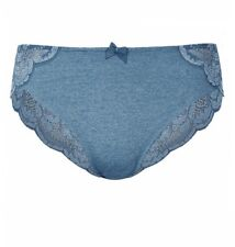 NEW SIZE 26 LADIES HIGH LEG KNICKERS PANTIES LACE BUM MARKS & SPENCER LIGHT PETR