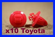 10 Toyota wheel arch flare panel lining cover mud guard flap fastener clips