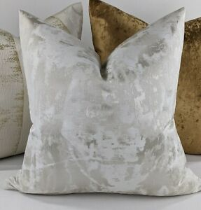 "Clarke & Clarke Tessere Fabric Champagne Handmade Cushion Cover 18x18"""