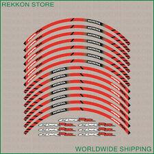 HONDA CBR RR Wheel Rim Decals Stickers Stripes Set Kit Laminated 600RR 1000RR