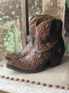 Ariat Women's Starla Woodsmoke Studded Zip Snip Toe Ankle Boots 10027231