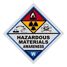 Hazardous Materials Awareness Haz Mat Firefighter Reflective Decal Sticker