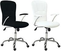 Silla de oficina giratoria silla escritorio color blanco o negro