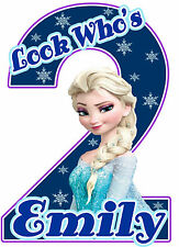 Disney Frozen Elsa Birthday Party t Shirt Iron On Transfer Personalized Decal