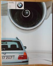 BMW 3 Series Touring 2000 UK Market prestige brochure prospekt - E46