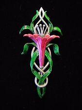 """JJ"" Jonette Jewelry Silver Pewter 'Oh, so Pretty Pink LILY' Flower Pin"
