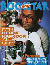 ROCKSTAR 47 1984 Herbie Hancock Cyndi Lauper Pino Daniele Billie Holiday Blonde